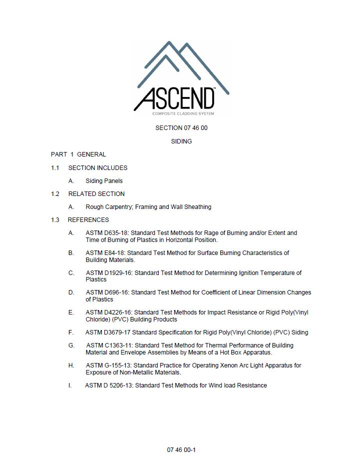 ASCEND Three-part Specification